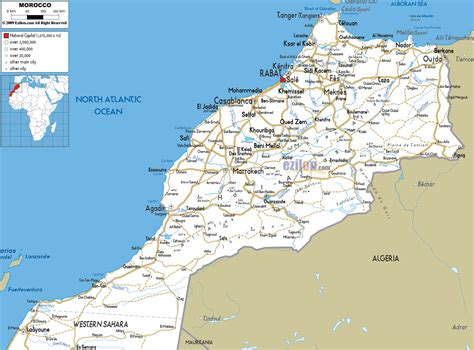 Carte Maroc Avec Villes by Large Detailed Roads Map Of Morocco With Cities And