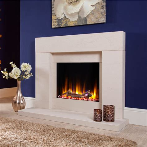 celsi ultiflame vr rennes limestone electric fireplace