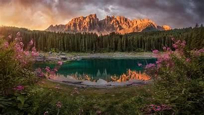 4k Desktop Italy Dolomites Carezza Tyrol Lago