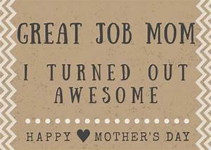 Funny Mother's Day Poem Card Printables - Crafty Morning