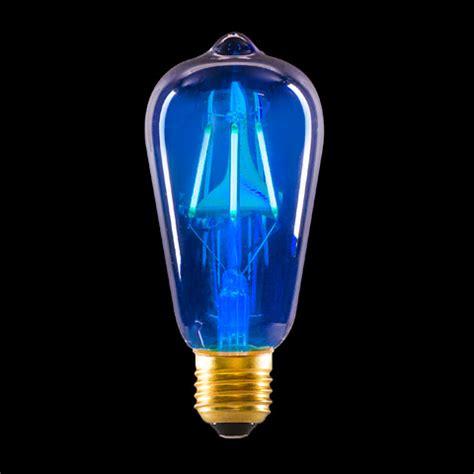 cool blue light bulbs blue edison bulb with 4 led filaments