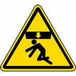 Hazard Warning Safety Crushing Crush Symbol Label
