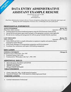 data entry administrative assistant resume example With data entry resume sample