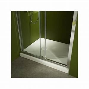 receveur douche blanc receveurs style moderne planete bain With porte de douche coulissante avec radiateur mixte pour salle de bain