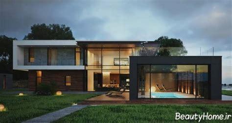 نمای خانه ویلایی مدرن و امروزی با متریال های متفاوت