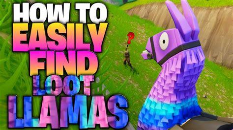 easily find loot llamas supply llamas youtube