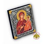 Orthodox Theotokos Icon Panagia Hodegetria Metal Nioras
