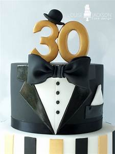 Top tier of The Great Gatsby inspired 30th birthday cake ...
