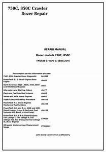 Instant Download John Deere 750c  850c Crawler Dozer