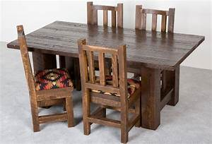 hand crafted barnwood dining table by viking log furniture With custom barnwood dining table