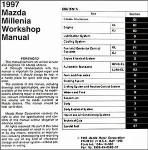 1997 Mazda Millenia Dispatch Workshop Manuals