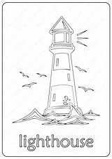 Coloring Lighthouse Printable Pdf Coloringoo Printables Colouring Books Words sketch template