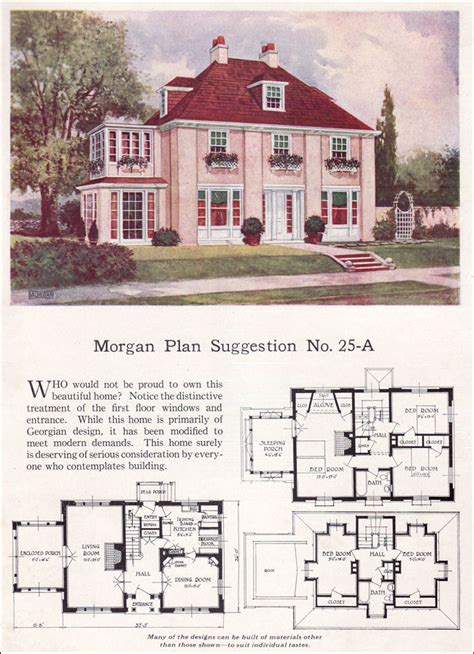 georgian architecture house plans georgian revival or eclectic 1923