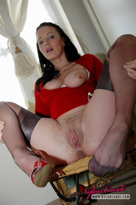 Busty Stocking Slut Nylon Candi Fingers Pussy Pichunter