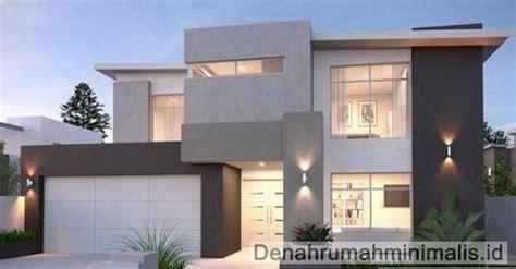 desain rumah minimalis 2 lantai type 90 tak depan