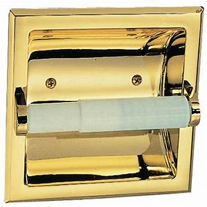 Design, House, 533372, Millbridge, Recessed, Toilet, Paper, Holder, Polished, Brass, Finish