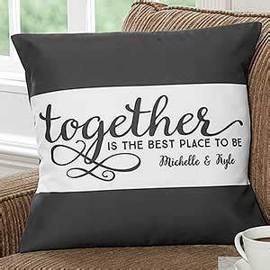 custom 18quot pillow together is the best place to be With best place to get decorative pillows