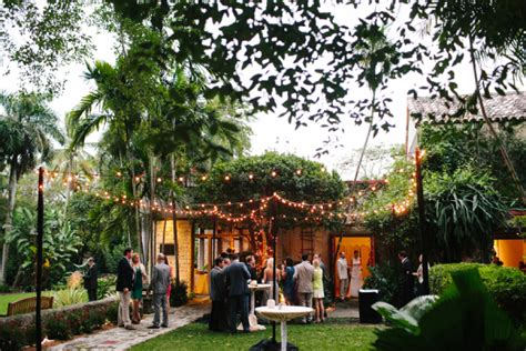 modern miami garden wedding elizabeth designs the