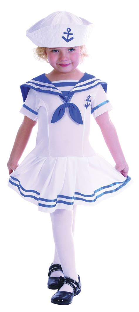 Childrens Toddler Sailor Fancy Dress Costume Nautical Outfit Boy Girl | eBay