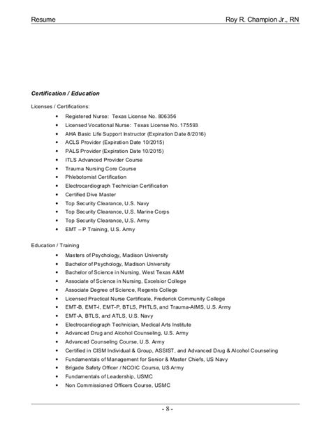 Expired Security Clearance On Resume by Resume