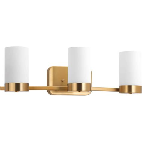 bronze bathroom vanity lighting progress lighting elevate collection 3 light brushed