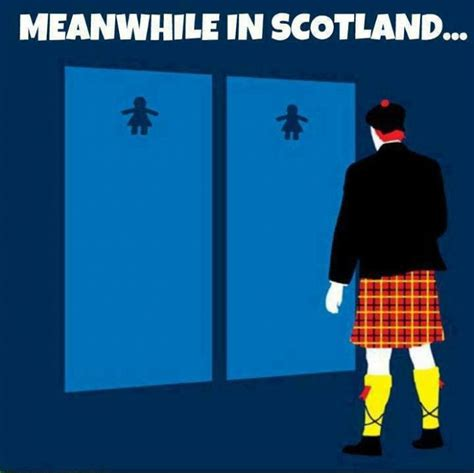 Funny Scottish Memes - meanwhile in scotland cartoon