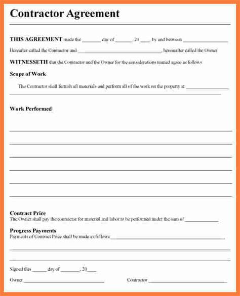 contractor contract template 7 contractor contract template marital settlements information