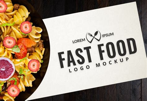 Every mockup is free, every mockups is easy to today i release free wrinkled poster mockup. Fast food logo mockup PSD Template - Packaging Mockup Gift Box