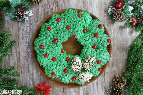 pull  cupcake wreath cake sugarhero