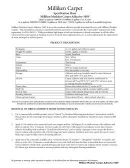 Specification Sheet Kraus KPA-301 Carpet Tile