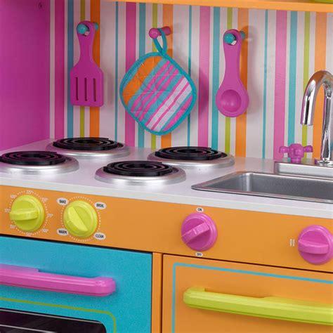 grande cuisine de luxe aux couleurs vives kidkraft king jouet cuisine et dinette kidkraft