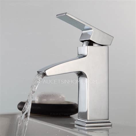 modern square shaped waterfall single handle bathroom faucet
