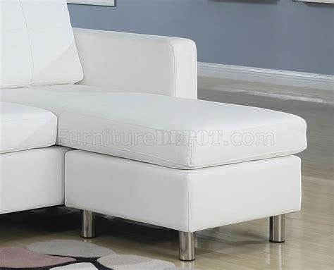 white vinyl sectional sofa 15068 kemen sectional in white vinyl sofa by acme