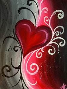 Abstract Heart | Painting Ideas | Pinterest | Paintings ...
