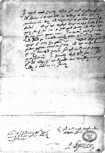 Dudley's Last Letter to Queen Elizabeth I