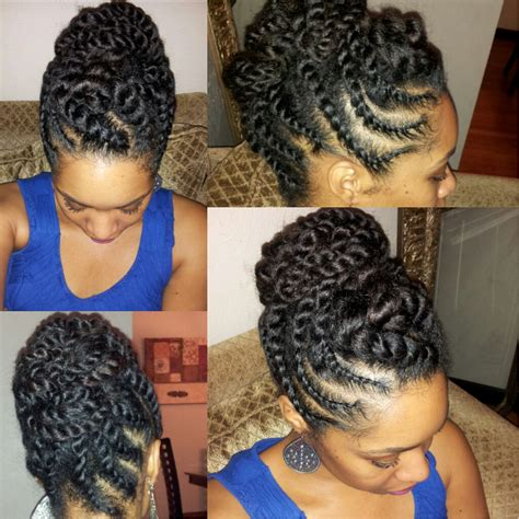 flat twist styles hair nichols design flat twist hair updo