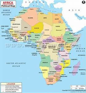 Political Map of Africa | Lugares para visitar | Pinterest ...