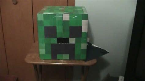 minecraft creeper head   cardboard