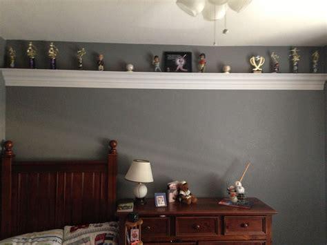 Bedroom Shelf by Trophy Shelf For The Home Boys Room Decor Trophy