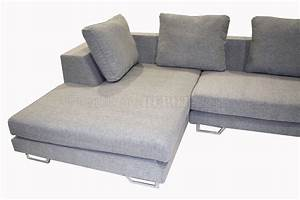 grey fabric modern sectional sofa with metal legs With sectional sofa metal legs