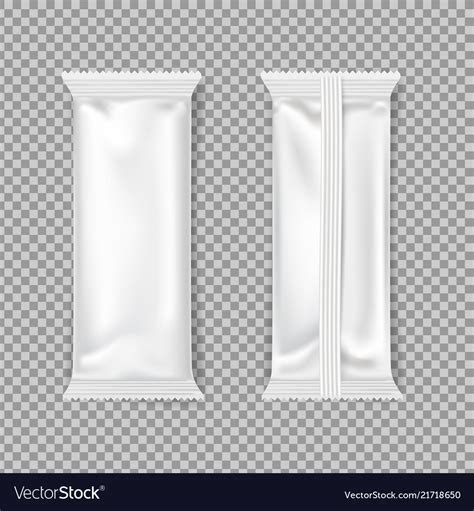 Free for personal and commercial use zip file includes: White chocolate bar packaging mockup Royalty Free Vector