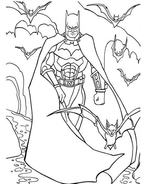Kleurplaat Batgirl by Kleuren Nu Batman Met Vleermuizen Kleurplaten