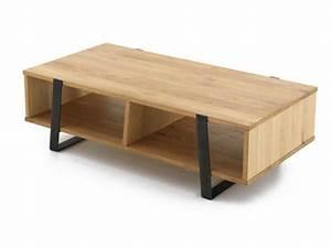 Table Basse Rectangulaire Bois : table basse metal et bois design en image ~ Teatrodelosmanantiales.com Idées de Décoration