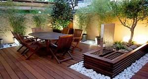 Decoration Terrasse Exterieur : petite terrasse l am nagement plein d 39 astuces d co ~ Teatrodelosmanantiales.com Idées de Décoration
