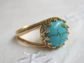 14k gold wedding band turquoise ring 14k gold ring 10 mm delicate ring