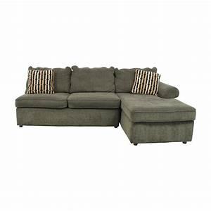 75 off la z boy la z boy forest green l shaped for La z boy sectional sofas