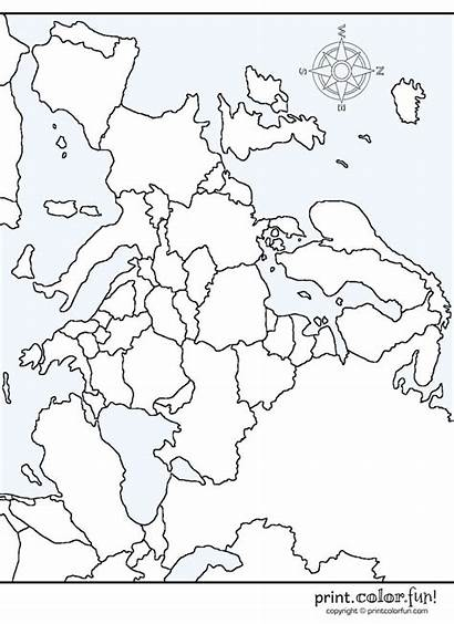 Europe Map Printable Maps Coloring Pages Geography