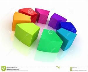 Color Wheel Bar Diagram On White Background Stock