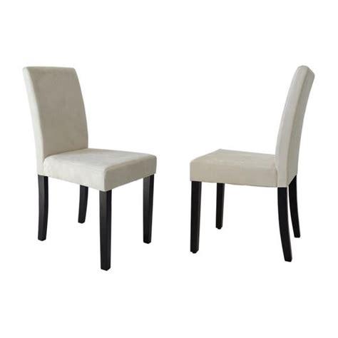 chaise salle a manger tissu clara lot de 2 chaises de salle à manger en tissu couleur