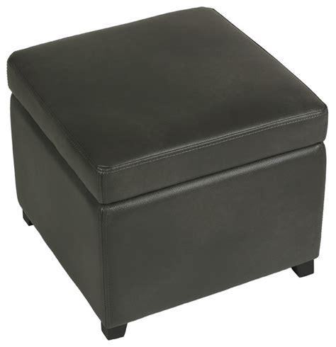 gray leather storage cortesi home massimo gray bonded leather storage ottoman